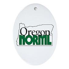 Oregon NORML Logo Oval Ornament
