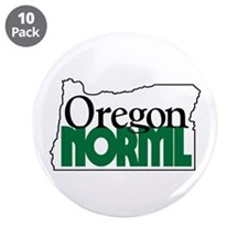 "Oregon NORML Logo 3.5"" Button (10 pack)"
