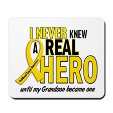 Never Knew A Hero 2 GOLD (Grandson) Mousepad