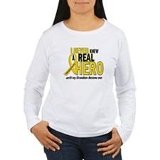 Never Knew A Hero 2 GOLD (Grandson) T-Shirt