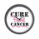 Cure Breast Cancer Wall Clock
