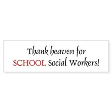 Thank Heaven School SW BRT Bumper Bumper Sticker