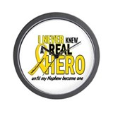 Never Knew A Hero 2 GOLD (Nephew) Wall Clock