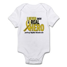 Never Knew A Hero 2 GOLD (Nephew) Infant Bodysuit