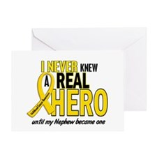 Never Knew A Hero 2 GOLD (Nephew) Greeting Card