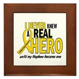 Never Knew A Hero 2 GOLD (Nephew) Framed Tile