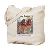 Belgian Horse Logging Tote Bag