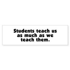 Student Teachers Bumper Bumper Sticker