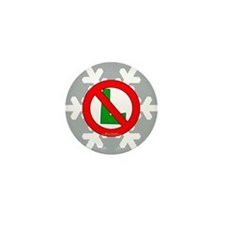 No L Snowflake Mini Button