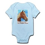 Looks Up Belgian Draft Horse Infant Bodysuit
