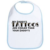 Daddy's Tattoos (Leopard) Bib
