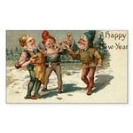 Irish Christmas Rectangle Sticker 10 pk)