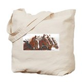Belgian Draft Horse 4 Abreast Tote Bag