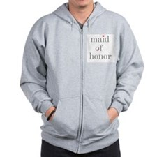Cute Maid of honor Zip Hoodie