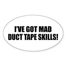 Duct Tape Sponsor Oval Sticker (10 pk)