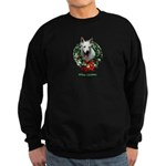 White Shepherd Christmas Sweatshirt (dark)