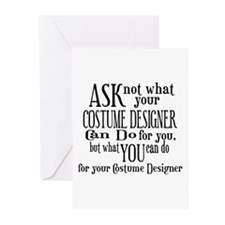 Ask Not Costumer Greeting Cards (Pk of 10)
