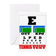 Tennis Vision Test Greeting Cards (Pk of 10)