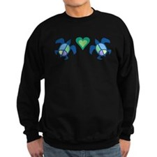 Peace Heart Sea Turtles Sweatshirt (dark)