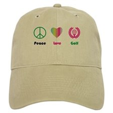 Peace, Love, Golf - Baseball Hat