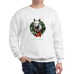 White Shepherd Christmas Sweatshirt