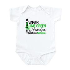 I Wear Lime Green Grandpa Infant Bodysuit