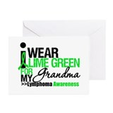 I Wear Lime Green Grandma Greeting Cards (Pk of 10