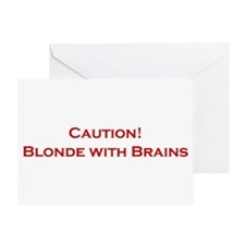 Blonde With Brains Greeting Card