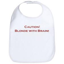 Blonde With Brains Bib