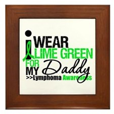 I Wear Lime Green For My Daddy Framed Tile