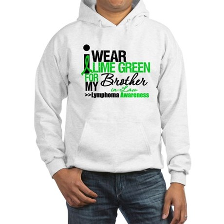 I Wear Lime Green BIL Hooded Sweatshirt