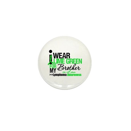 I Wear Lime Green BIL Mini Button (10 pack)