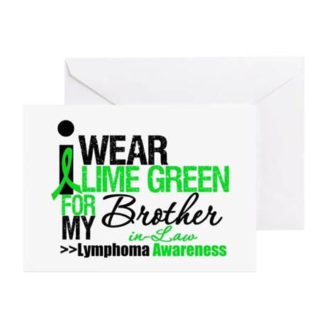 I Wear Lime Green BIL Greeting Cards (Pk of 10)