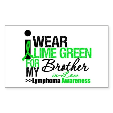 I Wear Lime Green BIL Rectangle Sticker 10 pk)