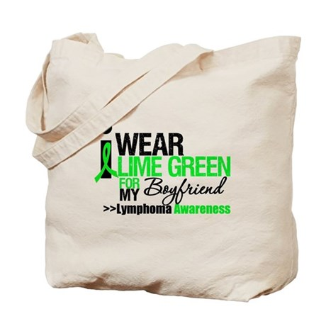 I Wear Lime Green Boyfriend Tote Bag