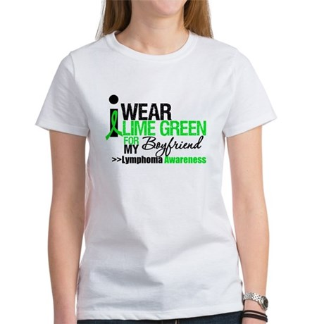 I Wear Lime Green Boyfriend Women's T-Shirt