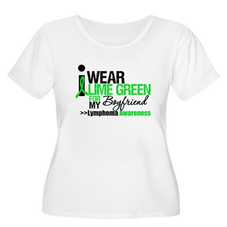 I Wear Lime Green Boyfriend Women's Plus Size Scoo