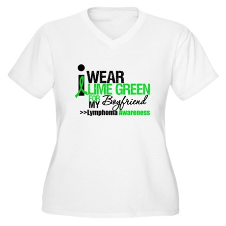 I Wear Lime Green Boyfriend Women's Plus Size V-Ne