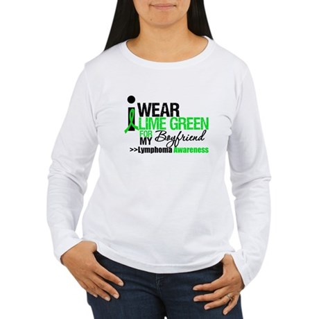 I Wear Lime Green Boyfriend Women's Long Sleeve T-