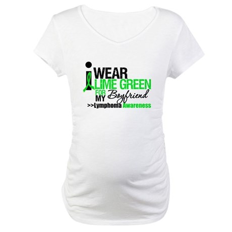 I Wear Lime Green Boyfriend Maternity T-Shirt