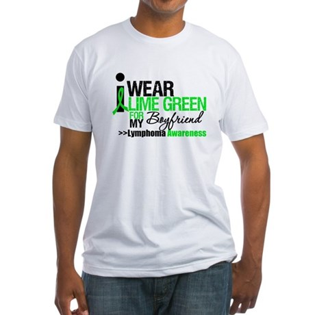 I Wear Lime Green Boyfriend Fitted T-Shirt