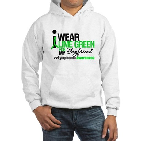 I Wear Lime Green Boyfriend Hooded Sweatshirt