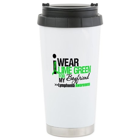 I Wear Lime Green Boyfriend Ceramic Travel Mug