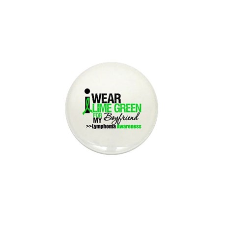 I Wear Lime Green Boyfriend Mini Button (10 pack)