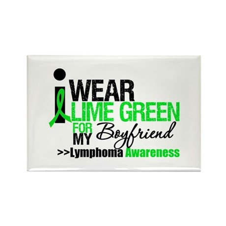 I Wear Lime Green Boyfriend Rectangle Magnet (10 p