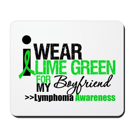 I Wear Lime Green Boyfriend Mousepad