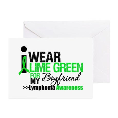 I Wear Lime Green Boyfriend Greeting Cards (Pk of