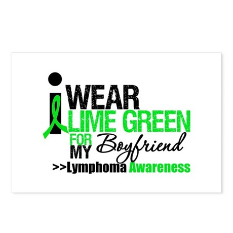 I Wear Lime Green Boyfriend Postcards (Package of