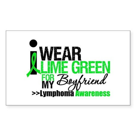 I Wear Lime Green Boyfriend Rectangle Sticker