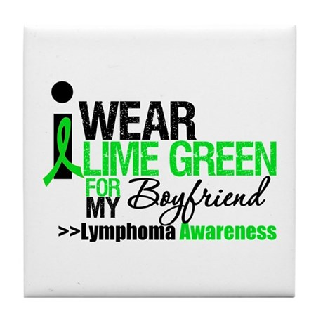 I Wear Lime Green Boyfriend Tile Coaster